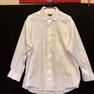 CLUB ROOM REGULAR FIT WHITE BUTTON DOWN SHIRT